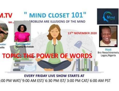 MIND CLOSET 101 November 13, 2020